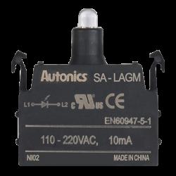 SA-LAGM   Led Blok, 110-240VAC~ 50/60Hz , Yeşil,  Modüler  (Eklenebilir) Tür