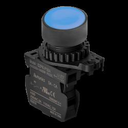 S2PR-P1BA Mavi Renk Normalde Açık Kontak Işıksız Yaylı Buton