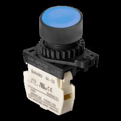 S2PR-P1BB Mavi Renk Normalde Kapalı Kontak Işıksız Yaylı Buton
