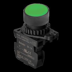 S2PR-P1GA Yeşil Renk Normalde Açık Kontak Işıksız Yaylı Buton