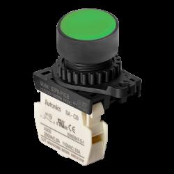 S2PR-P1GB Yeşil Renk Normalde Kapalı Kontak Işıksız Yaylı Buton