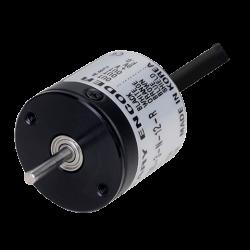 E20S2-100-3-N-12-R  20mm Gövde Çapı 12vdc NPN 100 Puls 2mm Mil Çapı Arttırımlı Enkoder Arkadan Kablolu