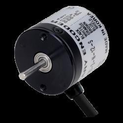 E20S2-100-3-N-12-S  20mm Gövde Çapı 12vdc NPN 100 Puls 2mm Mil Çapı Arttırımlı Enkoder Yandan Kablolu