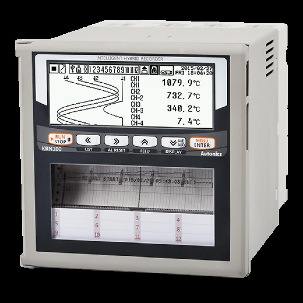 KRN100-04001-01-0S  4 Kanallı 100mm Kağıtlı 4 Alarm Çıkışlı RS485 Haberleşmeli Kayıt Cihazı
