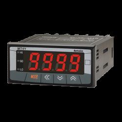 MT4W-DV-1N  96x48mm Ayarlanabilir 0-500 Volt Dc Sadece Gösterge 12-24VDC Beslemeli Dijital Voltmetre