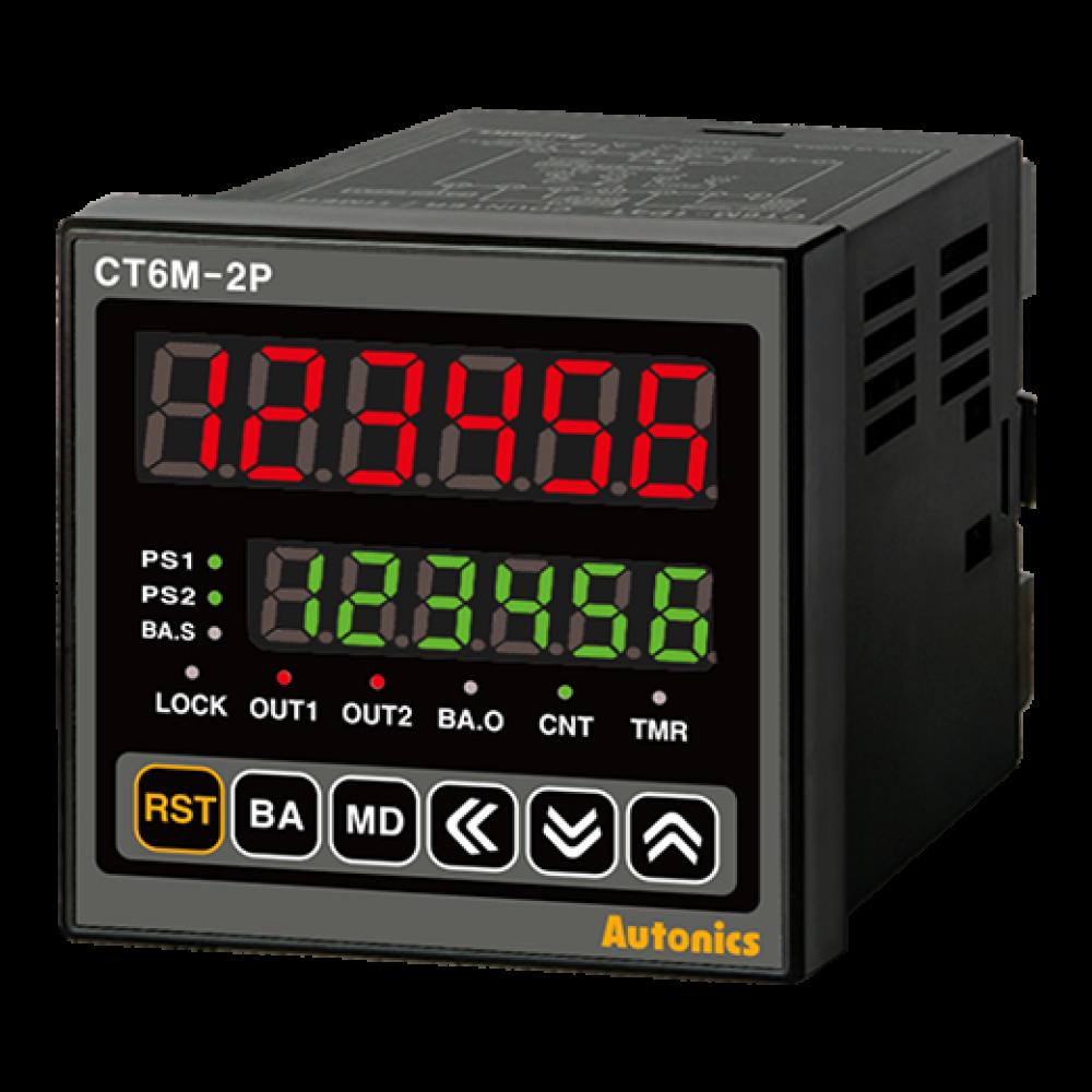 CT6M-2P2 72X72 24VAC/DC Çift Setli Dokunmatik Sayıcı