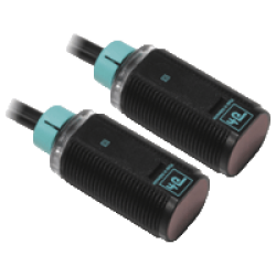 GD18/GV18/115/120 M18 Kısa Plastik Gövde 10-30VDC 20 Metre Algılama PNP Light On + Dark On Çıkışlı Kırmızı Işıklı 2m Kablolu Karşılıklı Fotosel