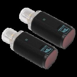 GD18/GV18/25/102/159  M18 Kısa Plastik Gövde 10-30VDC 20 Metre Algılama NPN Light On Çıkışlı Kırmızı Işıklı M12 Konnektörlü  Karşılıklı Fotosel