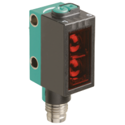 OBD1000-R101-2EP-IO-V31  Minyatür Kübik Kırmızı Işık, IO-Link, 1000 mm Algılama, 2 x Push-Pull L.On + D.On Çıkış, M8 4 Pin Konnektör Cisimden Yansımalı Fotoelektrik Sensör