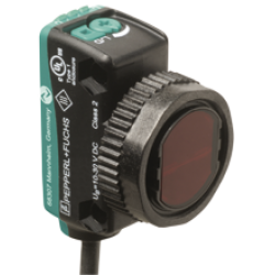 OBT80-R103-2EP-IO-L Minyatür Kübik Arka Fon Bastırmalı Laser, 80 mm Algılama, 2 x Push-Pull L.On / D.On Çıkış, Kablolu Cisimden Yansımalı Fotoelektrik Sensör