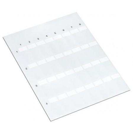211-150 Kendiliğinden ayrılan etiket beyaz 8mm kablo çapı max., A4 sayfa, lazer yazıcı için 70 sayfa/adet (20 Sayfa)